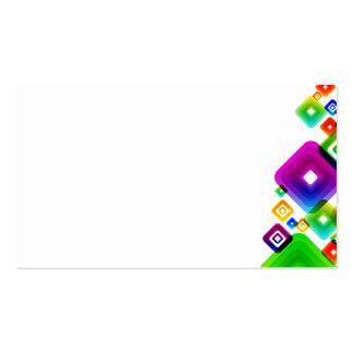 Vetor abstrato Graphic5 SQUAR COLORIDO do fundo Cartão De Visita