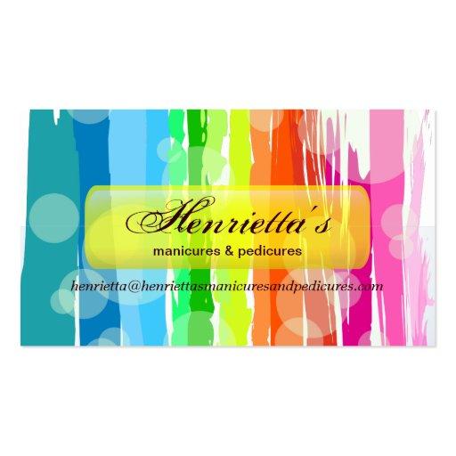 Vetor colorido abstrato do arco-íris modelo de cartões de visita