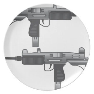 Vetor da arma de Uzi Louças De Jantar