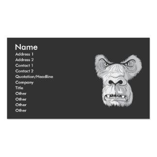 vetor da cara do gorila cartão de visita