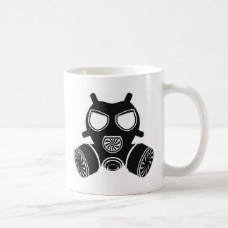 Vetor da máscara de gás caneca de café