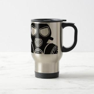 Vetor da máscara de gás caneca térmica