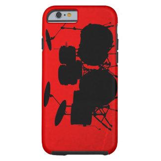 Vetor do cilindro vermelho capa tough para iPhone 6