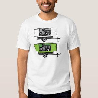 Vetor do reboque do gerador t-shirts