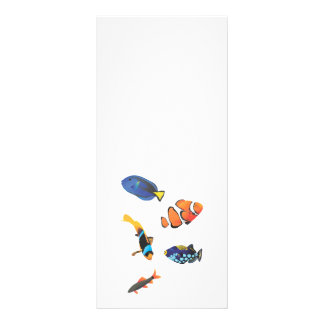 Vetor livre fishes.ai 10.16 x 22.86cm panfleto