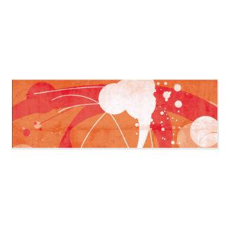 Vetor projetado alaranjado cartão de visita skinny