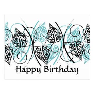 Vetores - feliz aniversario - personalizados cartao postal