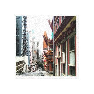 viagem a Hong Kong Impressão De Canvas Envolvida