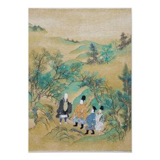 Viagem ao leste por Sumiyoshi Jokei Convites