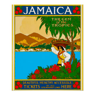 Viagem bonito de Jamaica Poster