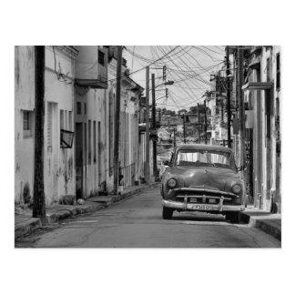 Viagem branco preto de Cuba do carro do Oldtimer Cartão Postal