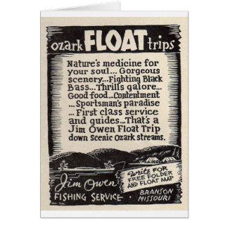 Viagem Branson Missouri do flutuador de Jim Owen Cartão Comemorativo