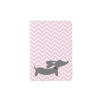 Viagem cor-de-rosa do cobrir do passaporte do cão capa para passaporte