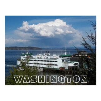 Viagem da foto da balsa do estado de Washington Cartão Postal