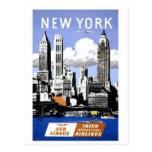 Viagem da Nova Iorque do vintage Cartao Postal