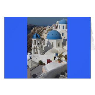 Viagem da piscina de Mykonos Cartão Comemorativo
