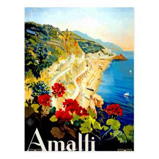 Viagem de Amalfi Italia Europa do vintage Cartão Postal