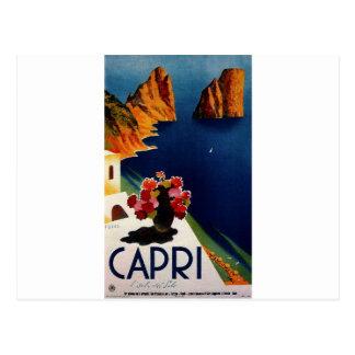Viagem de Capri Italia do vintage Cartão Postal