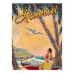Viagem de Havaí do vintage Cartões Postais