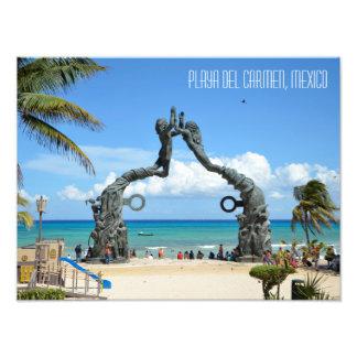 Viagem de México do Maya de Riviera do Playa del Impressão De Foto