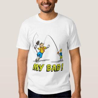 Viagem de pesca do filho do pai camiseta
