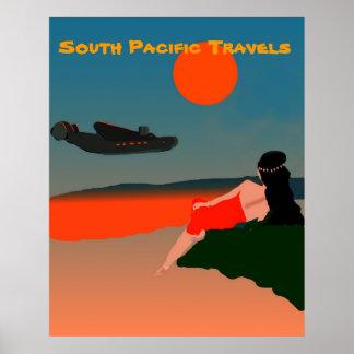 Viagem de South Pacific Pôsteres