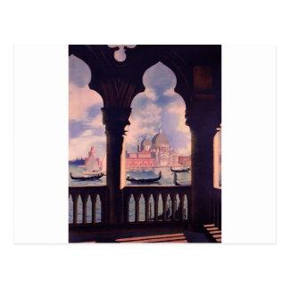 Viagem de Veneza Italia do vintage Cartão Postal