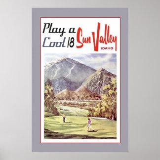 Viagem dos esportes do golfe de Sun Valley do Pôster