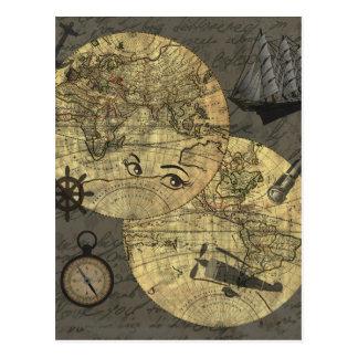 Viagem em todo o mundo cartão postal