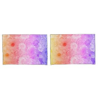 Viagem floral Pastel de Boho das flores do por do