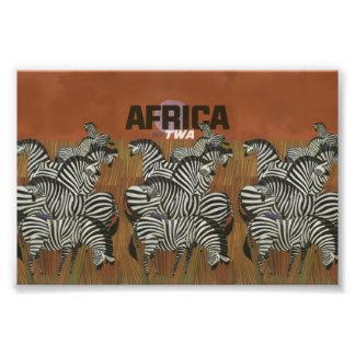 Viagem genuíno de África do poster vintage da Impressão De Foto