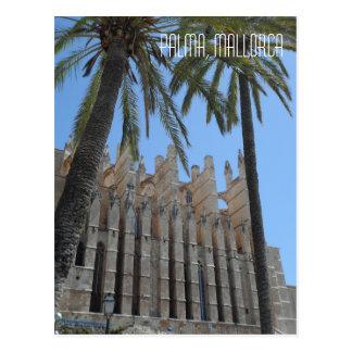 Viagem gótico da espanha de Majorca da catedral de Cartão Postal