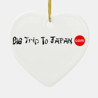 Viagem grande ao ornamento do coração de Japão