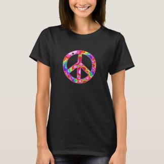 Viagem Groovy do Fractal do sinal de paz Camiseta