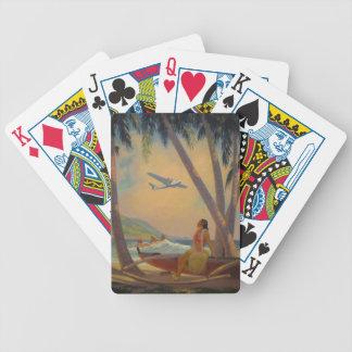Viagem havaiano do vintage - dançarino da menina jogo de carta