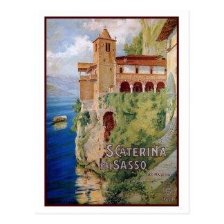 Viagem italiano do convento de Maggiore do lago do Cartão Postal