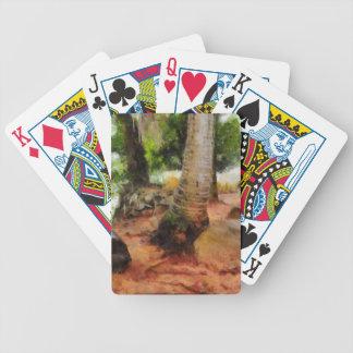 Viagem longa de uma tartaruga baralho de cartas