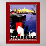 Viagem Marselha France dos posteres vintage tamanh