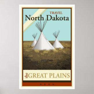 Viagem North Dakota Poster