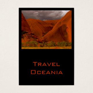 Viagem Oceania do cartão de visita