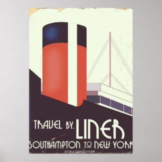 Viagem pelo forro - poster das viagens vintage