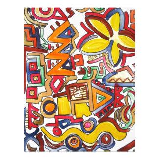 Viagem por estrada - arte abstracta panfleto