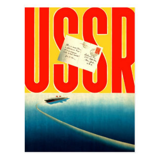 Viagem soviético do kitsch retro do vintage à arte cartão postal