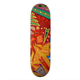 Viagem tribal maia mexicano de Boho da arte de Shape De Skate 18,4cm