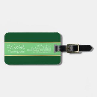 viagem verde e elegante dos casais tags para bagagens