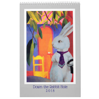 Viagens com o calendário branco do coelho 2018