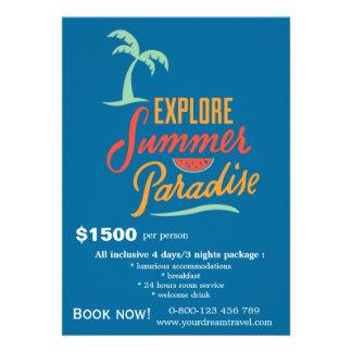 Viagens da excursão convite personalizado