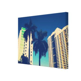 Viagens de Florida do vintage Impressão De Canvas Envolvidas