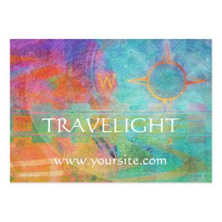Viagens - tema abstrato do viagem cartoes de visitas