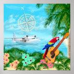Viagens tropicais posteres